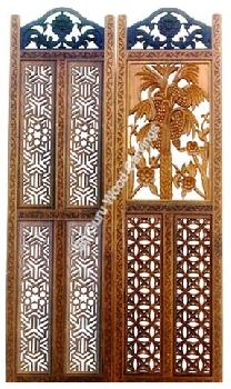 wood door design in flower  | 320 x 440